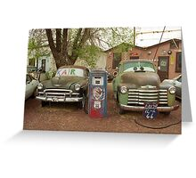 Route 66 - Snow Cap Drive-In Greeting Card