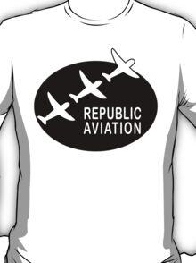 Republic Aviation Repro Logo (Black Ver.) T-Shirt