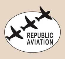 Republic Aviation Repro Logo (White Ver.)  by warbirdwear