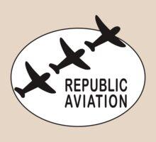 Republic Aviation Repro Logo (White Ver.)  by warbirdwear