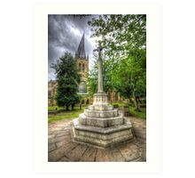 Church Of The Crooked Spire   Art Print