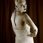 Nicky portrays Betty - sepia 2 by Glynn Jackson