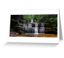 Flowing Terrace Falls Greeting Card