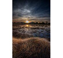 Sunset and Straw Photographic Print