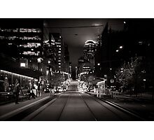 Collins St Tram Stop Photographic Print