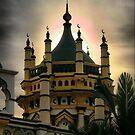 Singapore Temple.2. by Larry Lingard-Davis