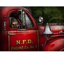 Fireman - This is my truck Photographic Print