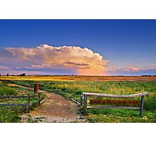 Summer Evening Thunderstorms Photographic Print