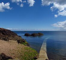 Crystal Clear Sea, Gorey, Jersey by wiggyofipswich