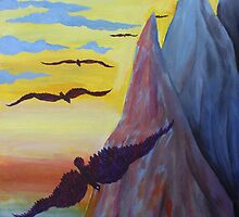 Acrylic Painting - Birds of Heaven. 2011 by Igor Pozdnyakov