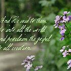 Go, Proclaim the Gospel to All Creation ~ Mark 16:15 by Robin Clifton
