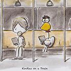 Kindles on a Train by Will Charlesworth
