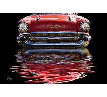 57 Red Chevy Photographic Print
