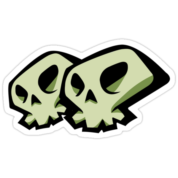 Skulls Sticker by HauntedTemple