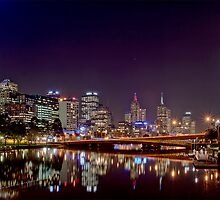 Melbourne Skyline by Lynden