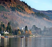 A Villiage in the Highlands of Scotland by Lynn Bolt
