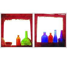 RED bottles Photographic Print