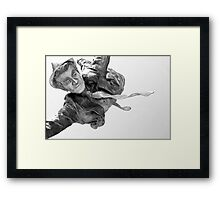 His Flying Dream, a Quiet Bliss Framed Print