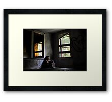 """Contentment"" Self Portrait, Abandoned House, CT Framed Print"