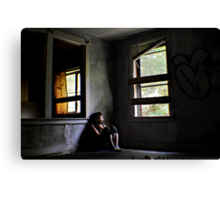 """Contentment"" Self Portrait, Abandoned House, CT Canvas Print"