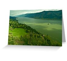 The Mighty Columbia River Greeting Card