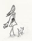 Walk with Dog by Jellyscuds