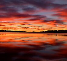 Reflections Of Day - Narrabeen Lakes,Sydney - The HDR Experience by Philip Johnson