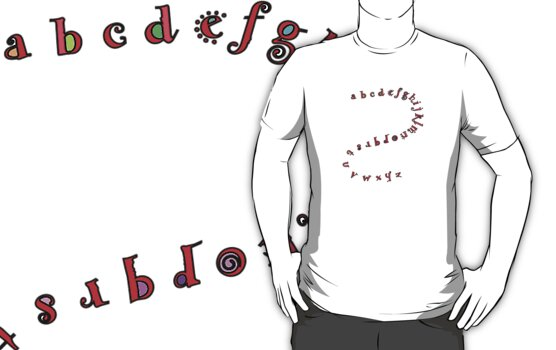 Alphabet Shirt  by Betty Mackey