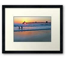 Touched By the Sea Framed Print
