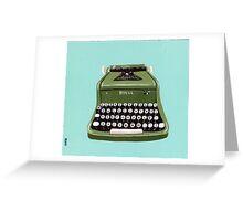 Green Royal Typewriter Greeting Card