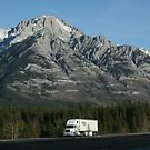 Lonesome Truck, Alberta, Canadian Rockies by Malcolm  Maggs