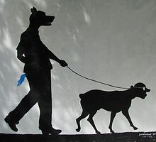Dog Walks Man/ Art Around the Park, Tompkins Square, New York by John Sunderland