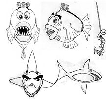 Fish Cartoon Illustration 2 by plunder