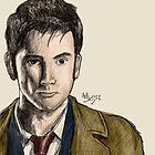 David Tennant - The Tenth Doctor by forcertain