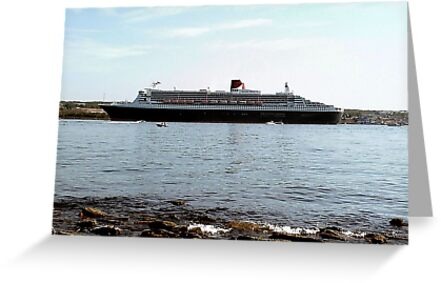 Queen Mary 2 arriving at Halifax by George Cousins