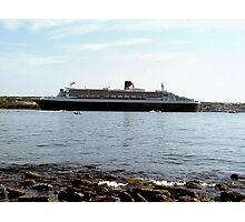 Queen Mary 2 arriving at Halifax Photographic Print