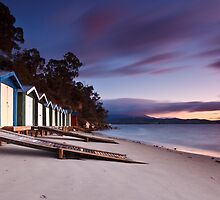 Coningham Beach Boat Sheds #2 by Chris Cobern