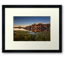 Past The Grass Framed Print