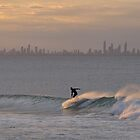 Solo Surfer - Gold Coast,Qld Australia by Barbara Burkhardt
