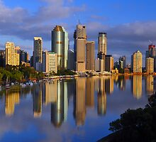 Brisbane River and City at dawn. Queensland, Australia. (10) by Ralph de Zilva