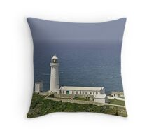 South Stack Lighthouse - Anglesey Throw Pillow
