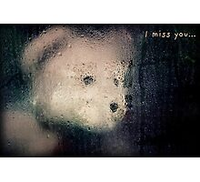 I Miss You Card Photographic Print