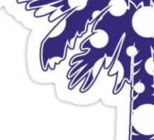 Purple Polka Dots Palmetto Moon Sticker