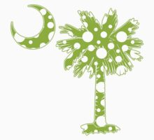 Lime Green Polka Dots Palmetto Moon by PalmettoTrading