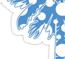 Light Blue Polka Dots Palmetto Moon Sticker