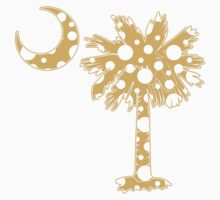 Yellow Polka Dots Palmetto Moon by PalmettoTrading