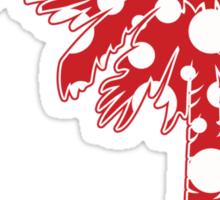 Red Polka Dots Palmetto Moon Sticker