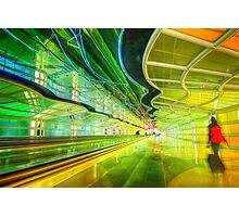 Moving Walkway at Chicago O'Hare, Terminal 1 Photographic Print