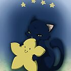 Little star kitten hug by Tunnelfrog