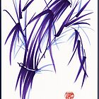 AURA - Orignal Spiritual Zen Bamboo painting by Rebecca Rees